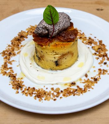 Poppy Seed Bread Pudding